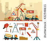 vector set of construction site ...