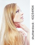 side view on a beautiful lady... | Shutterstock . vector #43254904