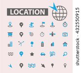 location icons  | Shutterstock .eps vector #432550915