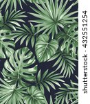 tropical seamless pattern with... | Shutterstock .eps vector #432551254
