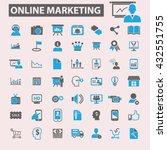 online marketing icons    Shutterstock .eps vector #432551755