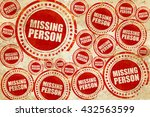 Missing Person  Red Stamp On A...