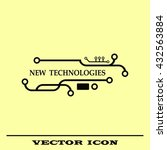 new technologies icon. circuit... | Shutterstock .eps vector #432563884