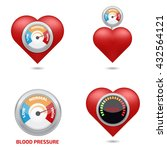 high blood pressure concept set | Shutterstock .eps vector #432564121
