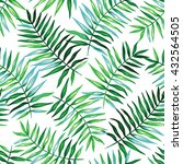 tropical seamless pattern with... | Shutterstock .eps vector #432564505