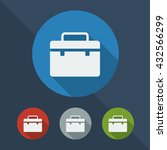 briefcase flat icon in...