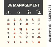 management icons  | Shutterstock .eps vector #432569275