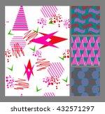 retro vintage 80 memphis style... | Shutterstock .eps vector #432571297