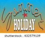 illustration of summer vacation ... | Shutterstock .eps vector #432579139