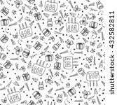 birthday seamless pattern. hand ... | Shutterstock .eps vector #432582811