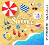 vector summertime top view... | Shutterstock .eps vector #432583111