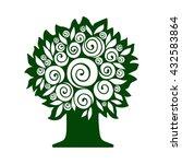 tree isolated on white... | Shutterstock .eps vector #432583864