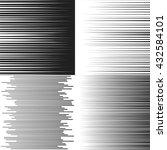 speed lines. set of vector...   Shutterstock .eps vector #432584101
