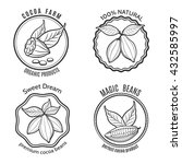 hand drawn cacao logo set and... | Shutterstock .eps vector #432585997