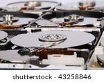 many open computer hard drive... | Shutterstock . vector #43258846