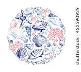 Vector Card With Seashells ...