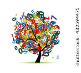 tree with colorful numbers for... | Shutterstock .eps vector #432594475