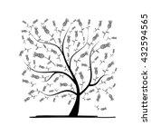 art tree square for your design.... | Shutterstock .eps vector #432594565