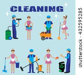 poster design for cleaning... | Shutterstock .eps vector #432595285