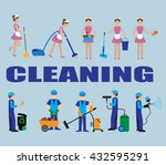 poster design for cleaning... | Shutterstock .eps vector #432595291