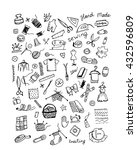 sewing set  sketch for your...   Shutterstock .eps vector #432596809