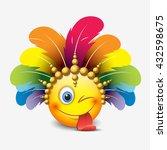 cute winking emoticon  sticking ...   Shutterstock .eps vector #432598675