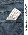 cellphone in jeans pocket   Shutterstock . vector #432600469