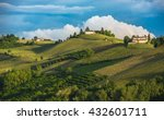 vineyards of langhe  piedmont ... | Shutterstock . vector #432601711