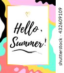 summer poster with hello.... | Shutterstock .eps vector #432609109
