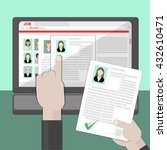 find resume and hiring. finding ... | Shutterstock .eps vector #432610471