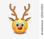 Red Nose Reindeer Emoticon ...