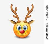 Red Nose Reindeer Emoticon ...
