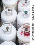 an overhead view of propane... | Shutterstock . vector #432613459