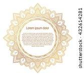 round gold border frame.... | Shutterstock .eps vector #432614281