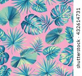 tropical seamless pattern with... | Shutterstock .eps vector #432614731