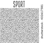 hand drawn sport and fitness... | Shutterstock .eps vector #432617581