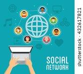 social media design. networking ...   Shutterstock .eps vector #432617821
