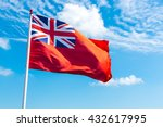 Red Ensign Seen Against A Blue...