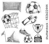 design elements of soccer.... | Shutterstock .eps vector #432622444