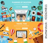 planning of vacation. travel... | Shutterstock .eps vector #432624811