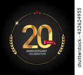 20 golden anniversary logo with ...