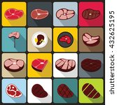 steak set | Shutterstock . vector #432625195