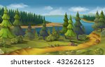 nature landscape  pine forest ... | Shutterstock .eps vector #432626125