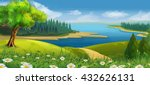 nature landscape  stream valley ... | Shutterstock .eps vector #432626131