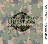 question camo emblem | Shutterstock .eps vector #432627127