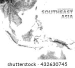 vector stippled relief map of... | Shutterstock .eps vector #432630745