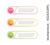 vector web template. layout... | Shutterstock .eps vector #432631891