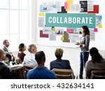 collaborate agreement... | Shutterstock . vector #432634141