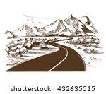road. hand drawn vector...   Shutterstock .eps vector #432635515