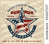 Vintage Usa Independence Label. ...